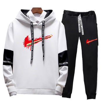 New Fashion Men Set Zipper Hoodies+Pants Sets Male Tracksuit Men's Casual Slim Fit Sportswear Male Brand Sweat Shirts Clothing