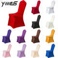 Spandex Stoel Cover Seat Cover Wedding Banquet Party 9 Kleur Stoelbekleding Seat Protector Hoes Stoel Cover Kerst Diner