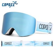 COPOZZ OTG Magnetic Ski Goggle Snowboard Mask For Men Women Personalized Eyewear Cylindrical UV400 Protection Snow Glasses Adult