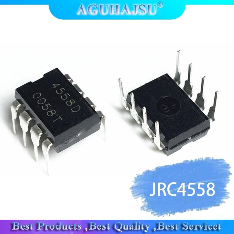 20PCS   IC Chips JRC4558 4558 4558D JRC4558D DIP-8 Original Integrate Circuits