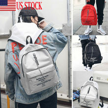 2019 Newest Fashion Women Alphabet Print Backpack School Bag Chain Trend Double Shoulder Hot Sale Solid Backpacks