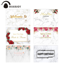 Allenjoy fondo fotográfico de mármol para boda, baby shower, recién nacido, flores, fiesta de cumpleaños, nphotozone, estudio fotográfico