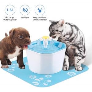 Портативный автоматический водный фонтан для домашних животных для кошек, собак, питьевой воды в помещении, Диспенсер Usb для маленьких дома...