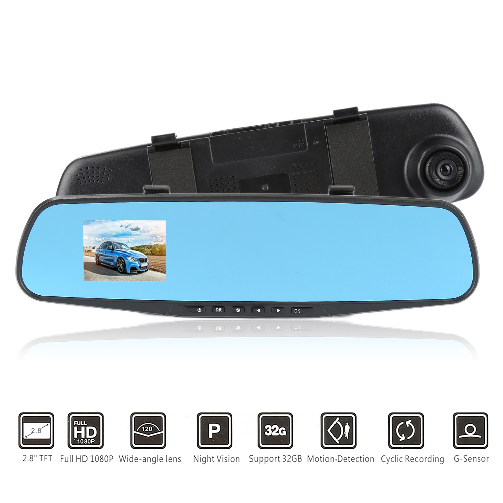 Camera-Recorder Dash-Cam Loop-Recording Night-Vision HD 1080P Super LCD Front Wide-Angle title=