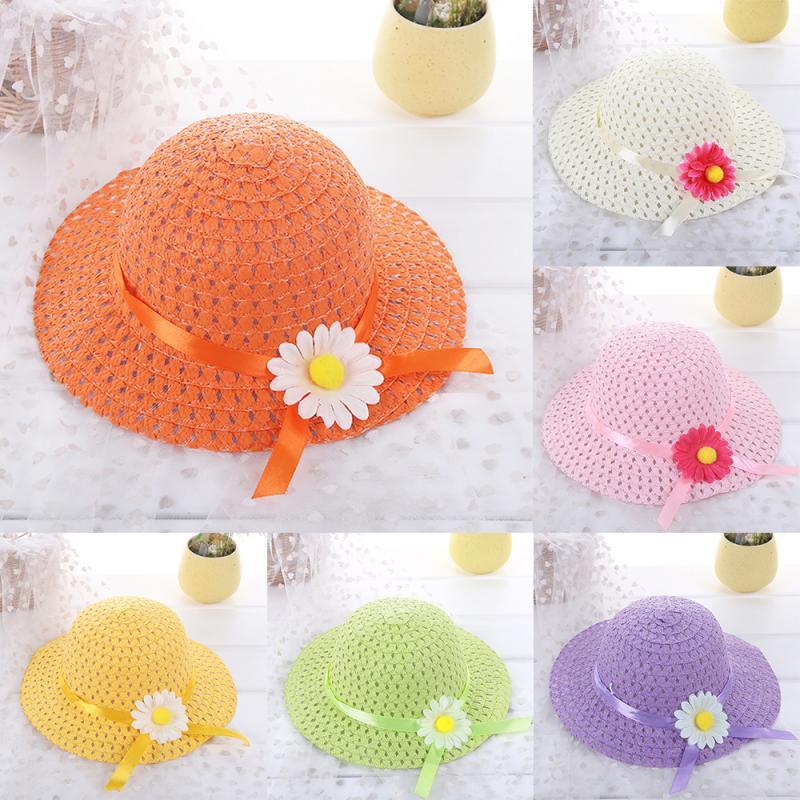 Chaude enfants soleil fleur chapeau bébé visière chapeaux bébé photographie accessoires unisexe bébé fille garçon robe accessoires parasol chapeaux