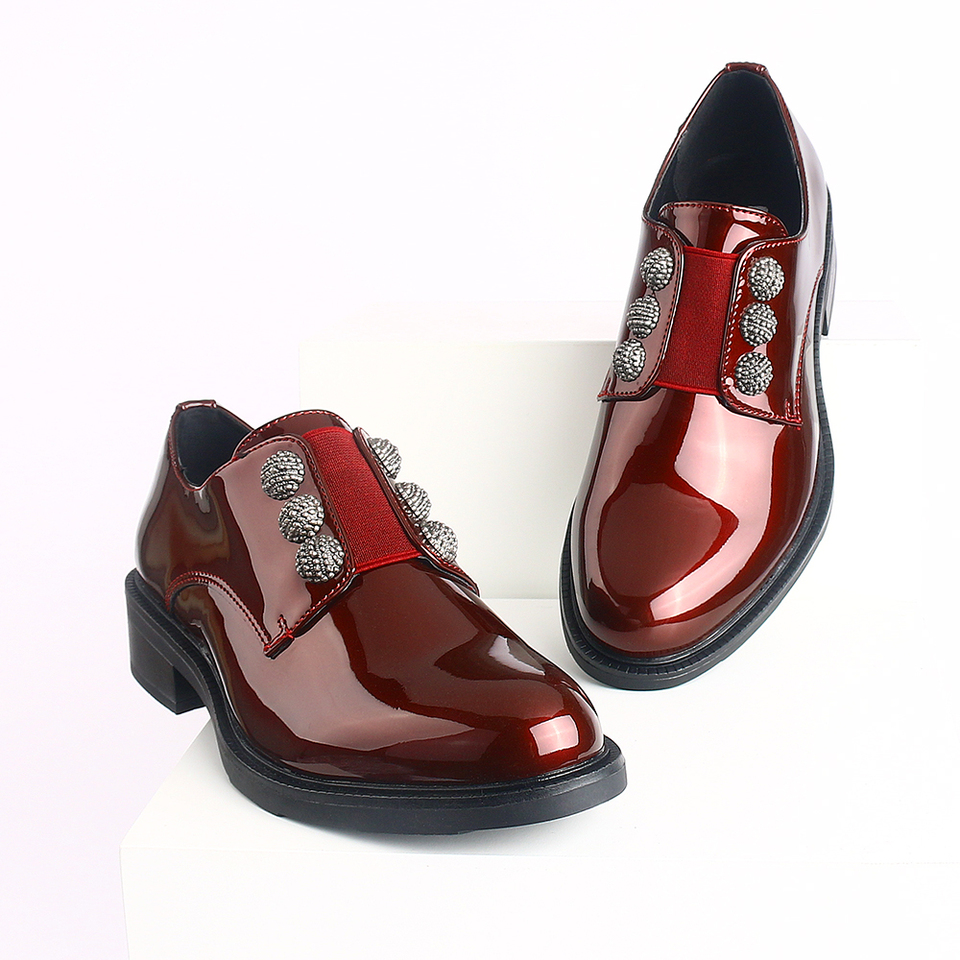 2020 Women Patent Loafers Flats Dress Shoes Ladies Rivet Office Formal Oxfords  Girls Casual Comfortable Luxury Fashion Brand Foo|Women's Flats| -  AliExpress