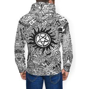 Image 3 - Supernatural Hoodie Supernatural Hoodies Nice Large Pullover Hoodie Polyester Long Length Loose White Hoodies