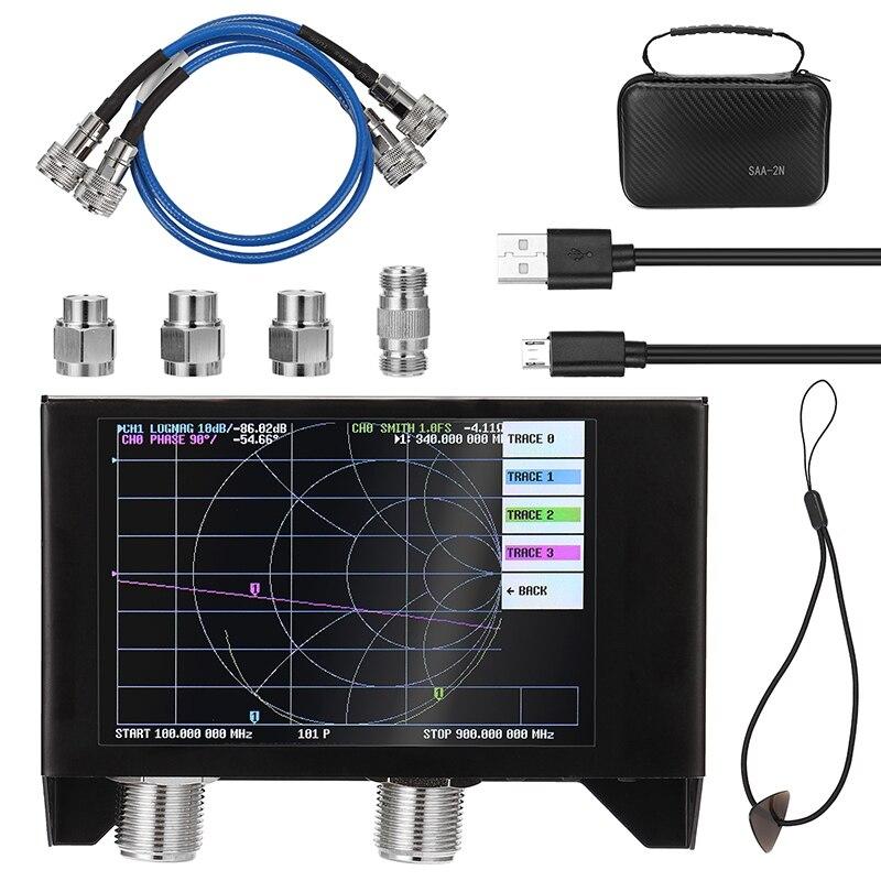 4 дюйма Дисплей SAA-2N NanoVNA V2 3 ГГц 2,2 версия 3000 мА/ч, Батарея вектор сетевой анализатор HF VHF UHF анализатор антенны
