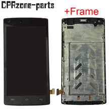 """5.0"""" Black / White with frame For DOOGEE X5 MAX PRO LCD display with touch screen digitizer sensor assembly free shipping"""