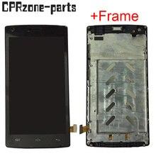 """5.0 """"أسود/أبيض مع إطار ل DOOGEE X5 ماكس برو شاشة الكريستال السائل مع محول الأرقام بشاشة تعمل بلمس الاستشعار الجمعية شحن مجاني"""