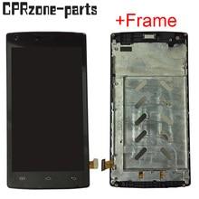 """5.0 """"siyah/beyaz için çerçeve ile DOOGEE X5 MAX PRO lcd ekran ile dokunmatik ekran digitizer sensörü meclisi ücretsiz kargo"""