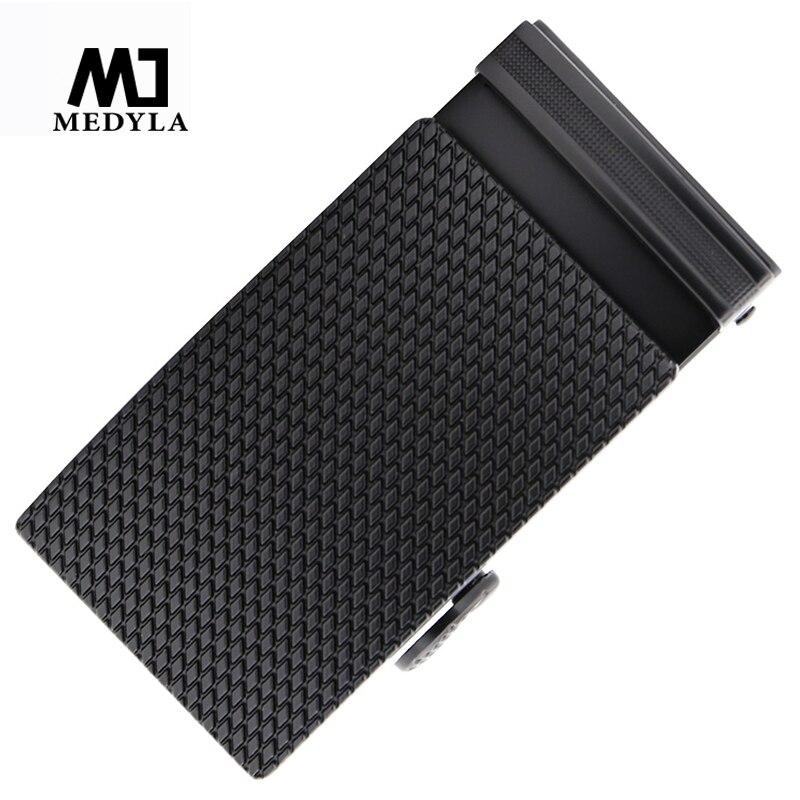 MEDYLA 3.6cm Mens Belt Buckle Hard Metal Automatic Buckle Belt Buckle For Men Diamond Texture Premium Black Mens Accessories
