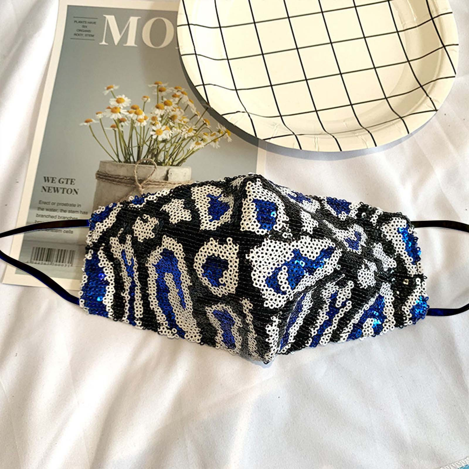 Mascarilla de lentejuelas Para mujer, máscara de diseño a La moda Para La Boca, Bandage Para acampar, viaje, 2021