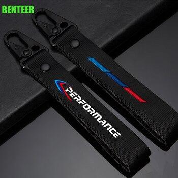 цена на Lastest design M performance  car key ring sticker for bmw E30 E36 E38 E39 E46 E60 E61 E70 E71 E87 E90 E83 F10 F20 F30 M3 M5