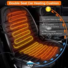 2 PCS 12V Heated Car Auto Seat Cushion Cover Pad Winter Use Electric Fast Heat Warm Adjustable for BMW for Audi for Ford for VW(China)