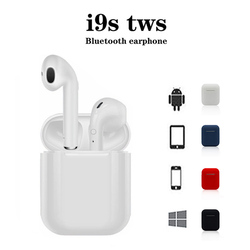 Mini i9s TWS Wireless Bluetooth Earphones Pop-up Earpiece Original stereo button operation wireless headsets bluetooth Earbuds