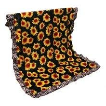 Одеяло с оборками и рисунком подсолнуха; леопардовое детское хлопковое стеганое одеяло с волнистым узором; детское одеяло с монограммой; ; DOM1310