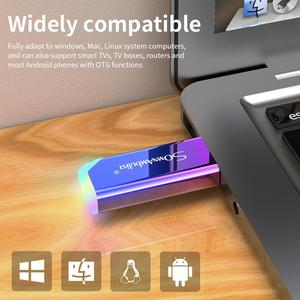 Boutique USB3.0 colorful gradient USB flash drive 64GB 32GB 16GB 8GB 4GB pendrive флешкаU disk memo cel USB memory stick gift