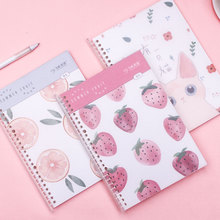 1 pc Kawaii B5 Coil Notebook Pull-out Loose-leaf Large Planner Book Agenda To do list Stationery School Office Supplies