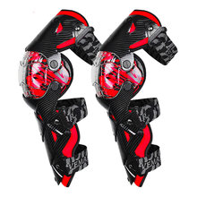 Red Motorcycle Knee Pad Men Protective Gear Knee Gurad MX DH Motorbike Knee Protector Rodiller Equipment Motocross Moto