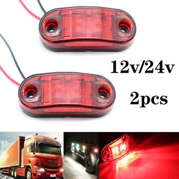 2 sztuk 12V 24V światła obrysowe LED oświetlenie samochodu lampy zewnętrzne ostrzeżenie ogon światła Auto ciężarówka z przyczepą ciężarówki lampy czerwony kolor tanie i dobre opinie Vehicleader CN (pochodzenie) Durable Plastic 6 5*2 8*1 2cm(LxWxH) SKL01926 Dongfeng LED Trailer Light Side Marker Light