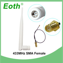 10pcs 433Mhz Antenna 5dBi RP-SMA Connector antena 433 mhz White antenne Aerial Wireless + SMA Male to Ufl./IPX Pigtail Cable цены