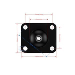 Image 3 - Aluminum Square Mounting Base w/ 1 inch ( 25mm ) Bubber ball compatible Mounts For G orpo Camera dslr For G armin G99B