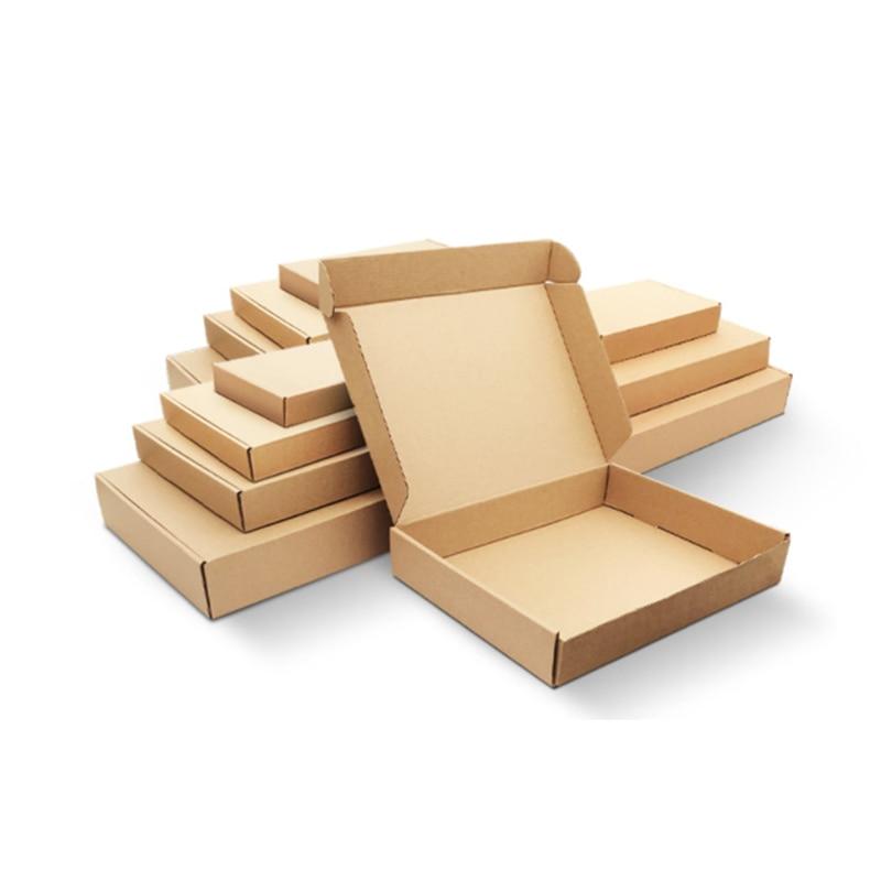 30Pcs Thick Carton Mailer Box Kraft Paper Small Gift Packing Box Brown Cardboard Jewelry Express Box Blank Corrugated Box 22Size