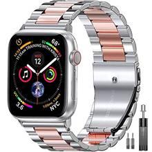 Совместим с apple watch band 42 мм 44 38 40 деловой металлический