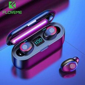 Image 4 - Kablosuz kulaklık Bluetooth V5.0 F9 TWS kablosuz Bluetooth kulaklık LED ekran ile 2200mAh güç bankası kulaklık mikrofon ile