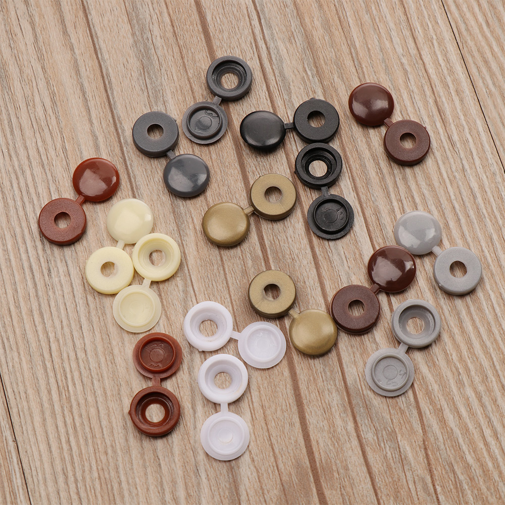 100Pcs/pack Colorful Hinged Plastic Screw Cover Fold Snap Cap Button Nuts Bolts Protect Furniture Exterior Decor Protective Caps(China)