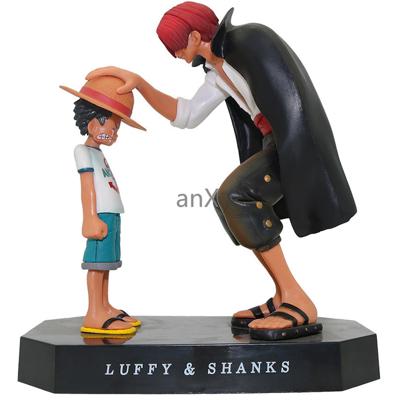 15cm Anime Figure Four Emperors Shanks Straw Hat Luffy PVC Action Figure Going Merry Doll Collectible Model Toy Figurine