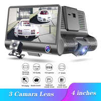 4.0 Inch Full HD 1080P Car DVR 3 Camera Dual Lens Rearview Video Camera Recorder Auto Registrator Night Vision Dash Cam