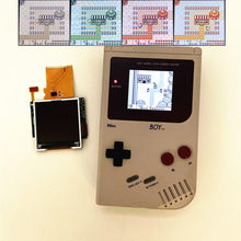 Jogo do retrofit do lcd do brilho alto de 2.2 polegadas para o gb de gameboy dmg, lcd retroiluminado de dmg gb