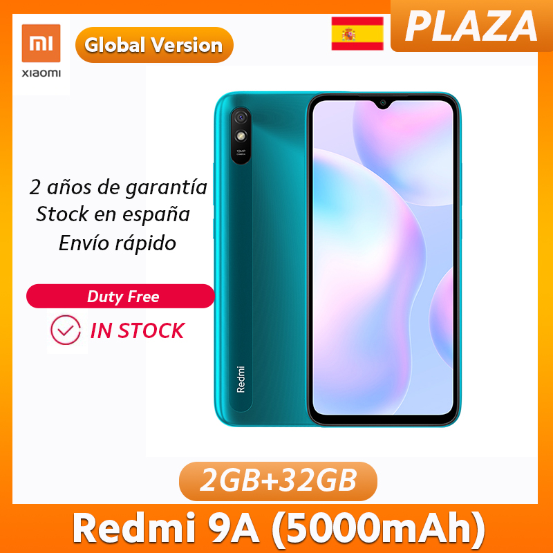 "Gobal Version Xiaomi Redmi 9A 2GB 32GB Smartphone 5000mAh Battery MediaTek Helio G25 6.53"" HD display 13MP AI Rear Camera|Cellphones| - AliExpress"