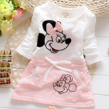 The New Fashion Summer Princess 100% Cotton Dress 2019 Minnie Beautiful Princess Girl For Round Brought DRESS