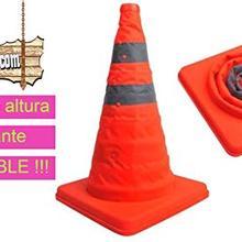 BricoLoco.com cone signalling Road folding 60 cm with 2 reflective bands, orange color.