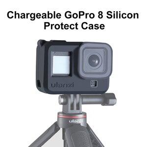 Image 1 - Ulanzi G8 3 Siliconen Case Voor Gopro Hero 8 Zwarte Cover Case Met Zonnekap Hand Strap Soft Box Voor Gopro 8 Accessoires