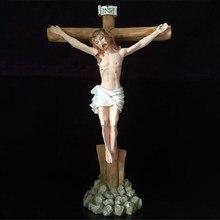 Grand jésus croix crucifix 43cm, ornements artisanaux religieux, résine epoxy, gothique, croix, fournitures décoratives pour la maison, église