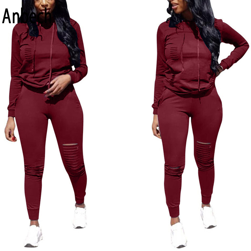 AliExpress Hot Selling Solid Color Hooded WOMEN'S Suit-Style Europe And America Hot Selling Sports Slim Fit WOMEN'S Dress