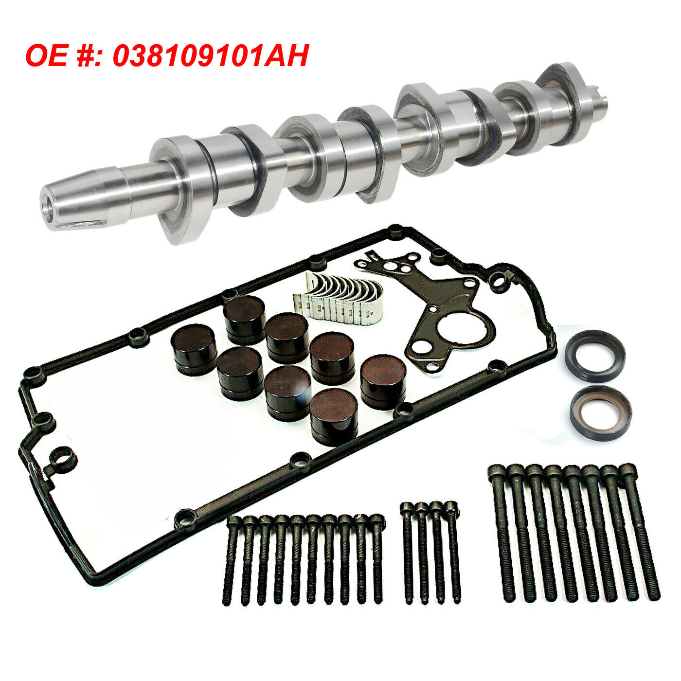 Camshaft KIT WITH CAM BEARINGS 038109101AH 038103673A 03G103652 1.9 /& 2.0 TDi PD