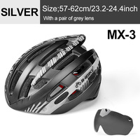 Ti Silver 1 Lens-INBIKE Cycling Helmet with Goggles Ultralight MTB Bike Helmet Men Women Mountain Road casco Sport Specialiced Bicycle Helmets