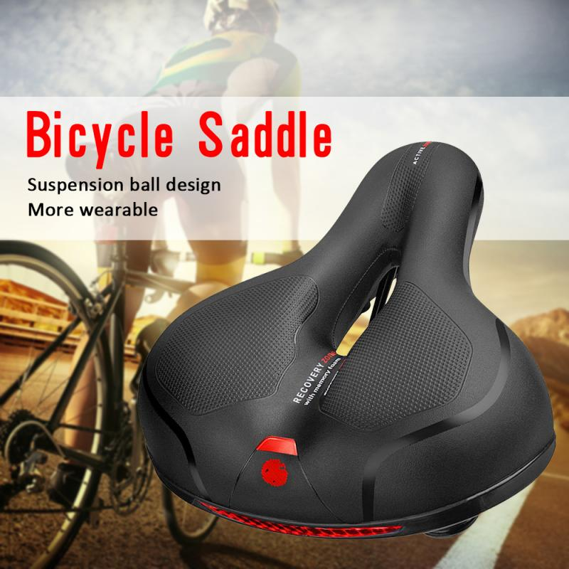 Comfy Soft Thickened Mountain Bike Saddle Cushion Bicycle Seat Padded Saddle New