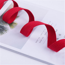 5M*25MM Red Canvas Cotton Webbing 1.5mm Thick High Tenacity Backpack Strap Webbi