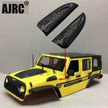 RC auto air intake grille seite motor lufteinlass für 1/10 RC verfolgt axial SCX10 90046/47 Jeep Wrangler Rubicon körper shell auspuff(China)