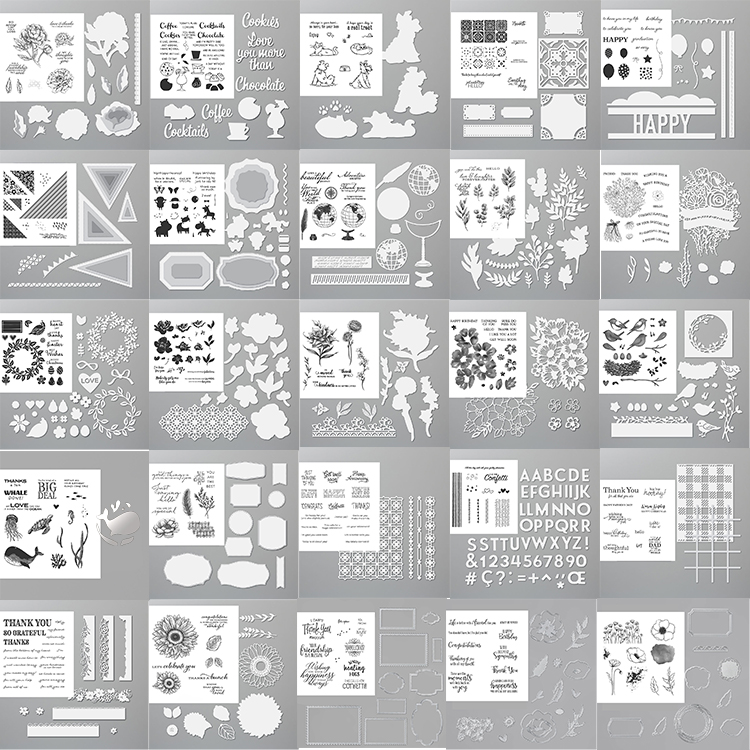 New arrived Transparent Clear Stamps /coordinating cutting die for DIY scrapbooking/photo album Decorative card making|Stamps| - AliExpress