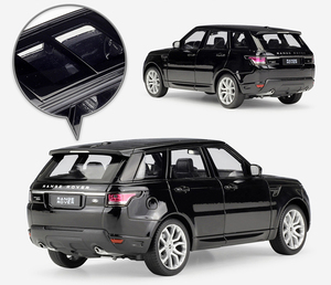 Image 4 - Модель литая автомобиля Welly масштаб 1:24, Игрушечная машина Land Rover Range Rover Sport SUV, игрушечный автомобиль из металлического сплава для детей, коллекция подарков