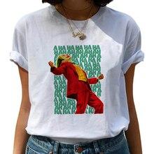 Female Funny Joker T Shirt Women Joaquin Phoenix Harajuku Chucky Horror Tshirt Ulzzang Cartoon T-shirt Graphic Fashion Top Tee