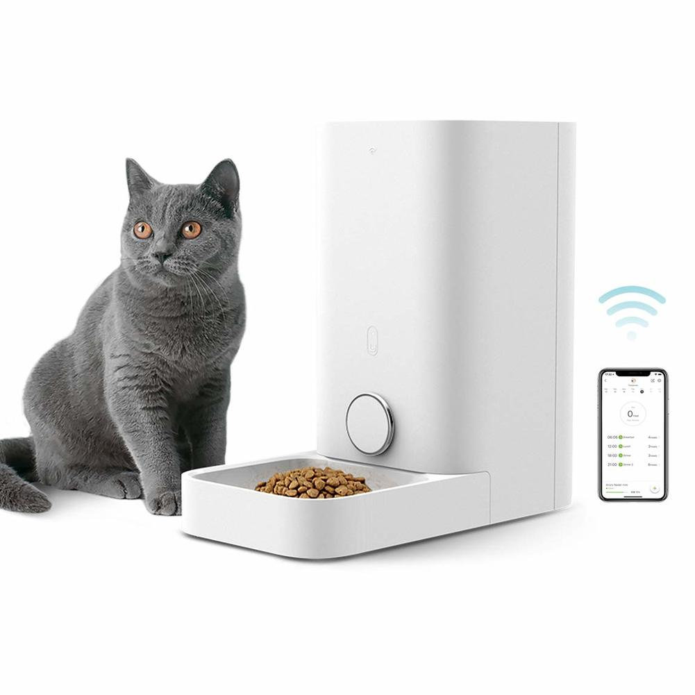 PETKIT Automatic Cat Feeder Dog Food Dispenser Wi-Fi Enabled Smart Feeder with Timer Programmable Pet Feeder for Cats Dogs