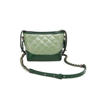 Image 4 - Kadınlar için hakiki deri çanta 2019 lüks markalar tasarımcı çantaları zincirleri Crossbody çanta bayanlar debriyaj gövdesi omuzdan askili çanta